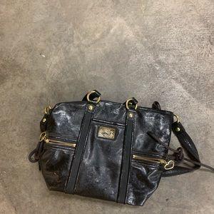 Black coach handbag POPPY